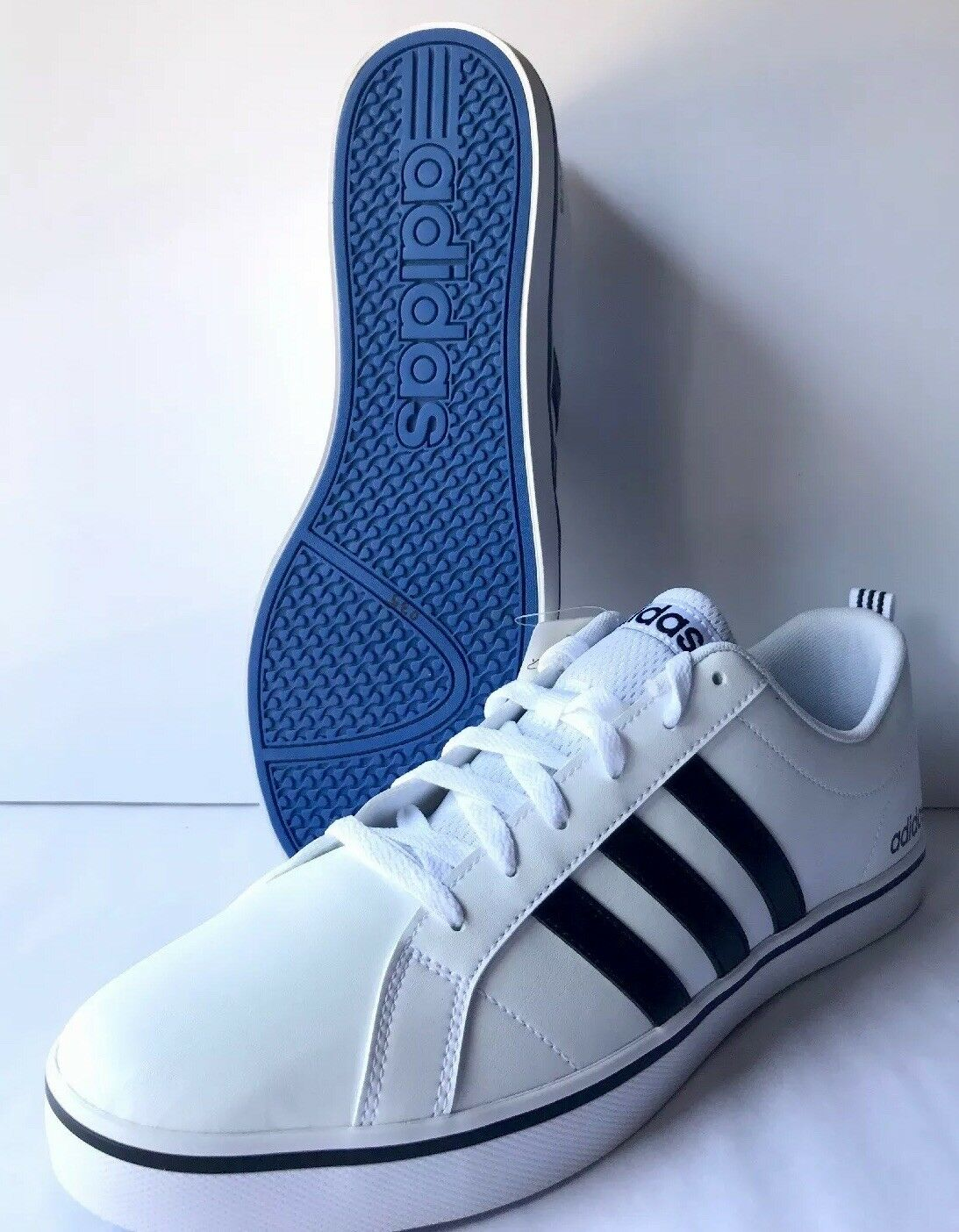 Adidas neo Uomo ritmo vs scarpa, bianco / nero / blu, ci nwt m