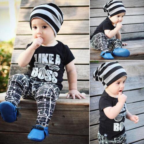 Pantaloni Casual Completi Vestiti Set 2 Pz Bambini Neonato Bambino T-Shirt Top