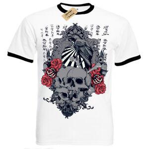 Sunrise-T-Shirt-japanese-skulls-roses-crow-chinese-gothic-Mens-RInger