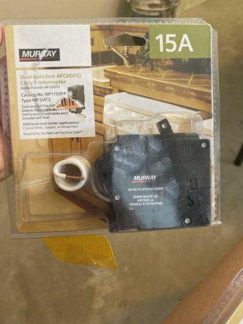 Murray Mp115dfp 15 Amp Afci  Gfci Circuit Dual Function Circuit Breaker For Sale Online
