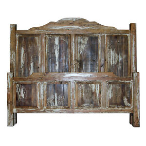 Image Is Loading White King Bed Side Rails Slats Included Rustic