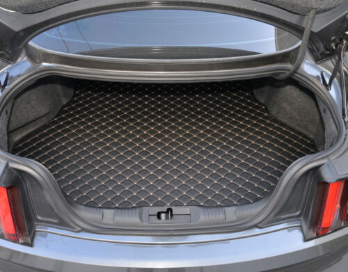 Motor Trend PU Leather Trunk Mat Cargo Liner For Ford Mustang 2015-2016
