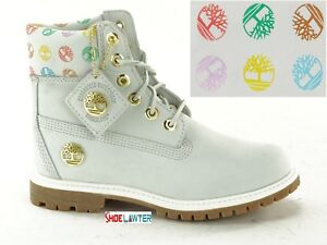 Details about TIMBERLAND SIGNATURE LOGO GHOST WHITE WOMENS 6