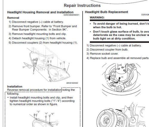 Suzuki car workshop manual
