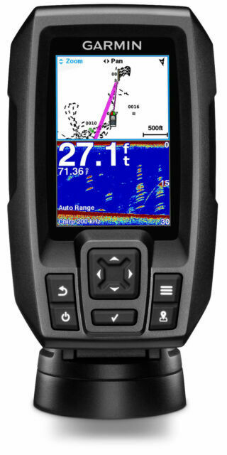 "Garmin 010-01550-00 Striker 4 with Transducer, 3.5"" GPS Fishfinder, Brand New"