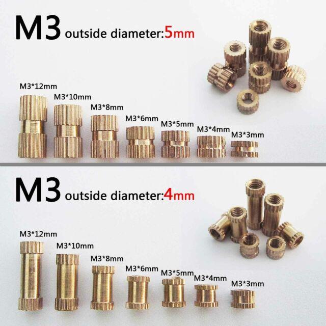 M3 BRASS NUT 3MM BRASS FULL NUTS pack of 25