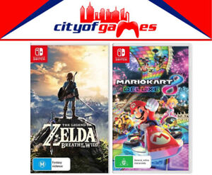 The-Legend-Of-Zelda-Breath-Of-The-Wild-amp-Mario-Kart-8-Deluxe-Switch-New-amp-Sealed