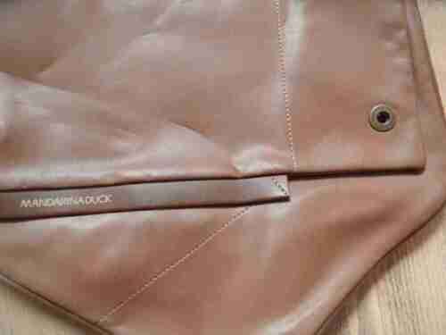 de Duck cuero Mandarina marr bolso de hermoso hombro nP6gWvqSx
