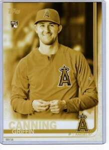 Griffin Canning 2019 Topps Update Variations 5x7 Gold #US200 /10 Angels