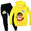 Boys Ryan Toys Review Costume Outfits Ryan/'s World Pullover Hoodie Top+Pants Set