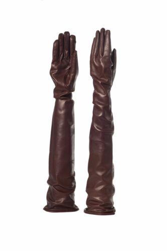 guanti pelle fod seta 60cm  leder handschuhe Parisi Leather Gloves Silk 60 cm