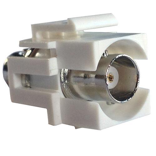 Eagle BNC Keystone Insert Plug White Connector Coupler Jack Modular QuickPort