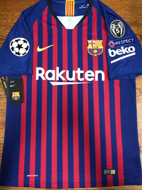 5a5507cc38a Nike Fc Barcelona Home Jersey Authentic Messi 10 Champions League Size Small