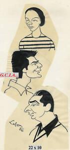 G.PHILIPPE-PORTRAIT/CARICATURE-ORIGINAL par LEBON 1956