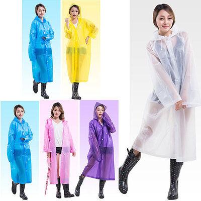 Fashion Women EVA Transparent Raincoat Poncho Portable Long Use Rain Coat