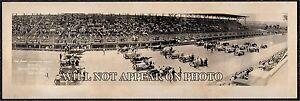 1916 Cincinnati Motor Speedway 1st Int'l Sweepstake Race Vintage Panoramic Photo