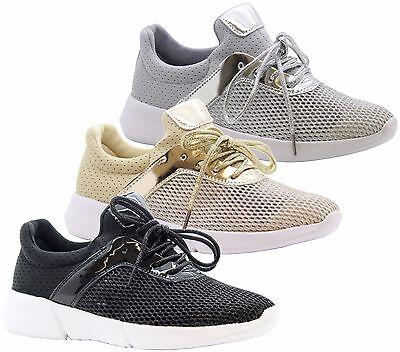 Señoras Mujeres Jogging Correr Fitness Deporte Amortiguador Zapatillas Zapatos Talla