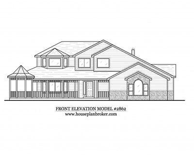 2,675 sq ft - or choose any plan Custom set of blueprints House home design