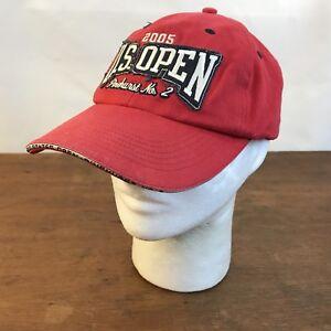 US Open 2005 Pinehurst No. 2 Adjustable Red Cotton Baseball Cap Hat ... 701bbb601b26