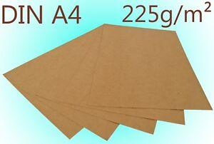 Premium Kraftpapier Kraftkarton DIN A4 225g/m² Bastelkarton braun Hochzeit