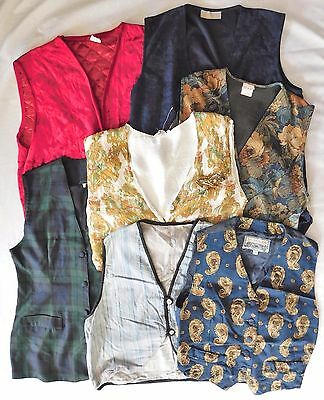 7 girls ladies waistcoats job lot theatre costume fancy dress school play C