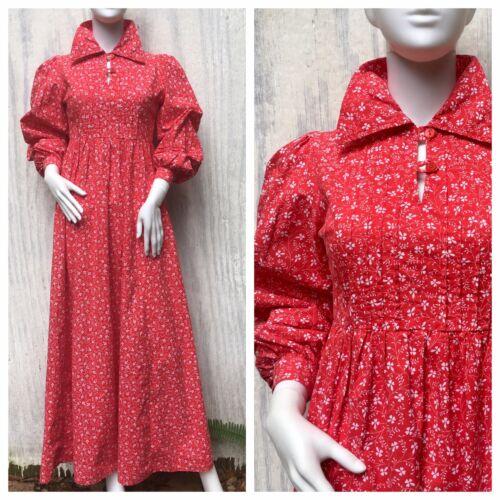 Dress Prairie Vintage LAURA ASHLEY Wales 70s Calic