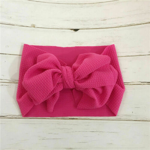 Baby Girl Toddler Big Bow Hairband Headband Stretch Turban Head Wrap Headwear