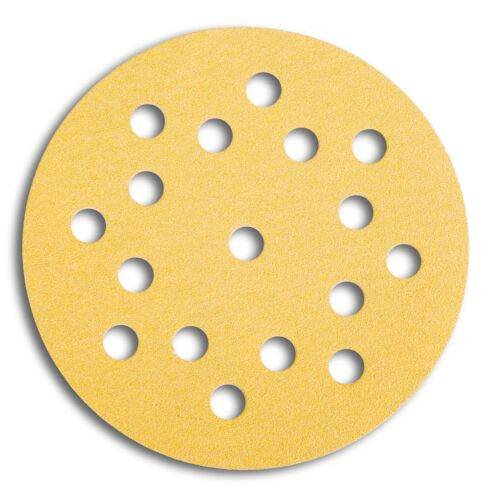 Mirka Gold Klettscheiben Schleifscheiben 125 mm 17 fach gelocht Körnung wählbar