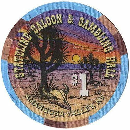 Stateline Saloon Casino Amargosa Valley NV $1 Chip 1996