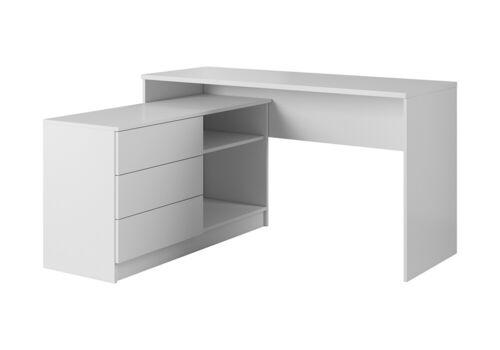 Office Computer Desk Home Office Corner Modern Design White Graphite