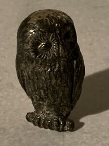 Vintage-Miniature-Brass-Owl-Just-2-Inch-Tall