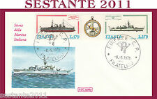 ITALIA FDC ROMA 1978 STORIA MARINA ITALIANA COSTRUZIONI NAVALI ANN. FIRENZE G809