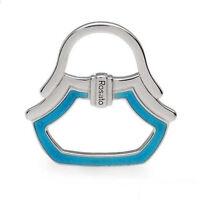 Auth rosato Italy Sterling Silver Enamel Blue Handbag Scarf Ring Pendant