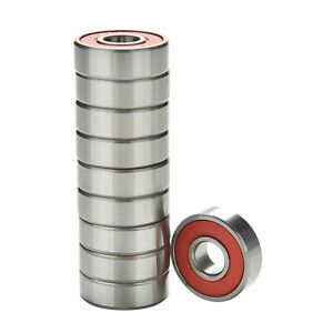 10-pcs-Red-ABEC-9-High-Performance-Skate-Scooter-Skateboard-Wheel-Bearings-TCNH