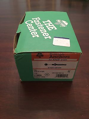 1//4 X 2-3//8-Inch 50-Pack The Hillman Group 375653 Strike Anchor