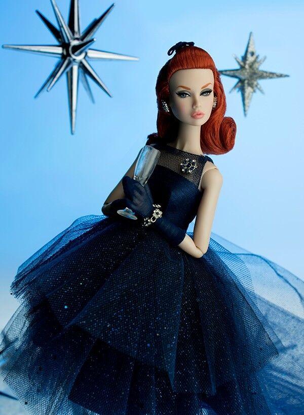 Mai tolto dalla scatola integrità Poppy PARKER primo assaggio di champagne vestito bambola