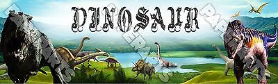 """Dinosaurs Poster 30/"""" x 8.5/"""" Personalized Custom Name Painting Printing"""