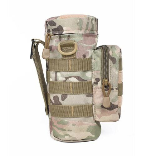 Military Outdoor Tactical Camping Hiking Zipper Water Bottle Bag Pouch Hiking