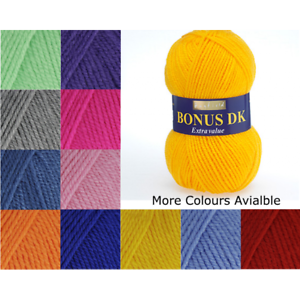 Sirdar-Hayfield-Bonus-DK-Yarn-50g-Ball-Knitting-Crochet-Acrylic-Extra-Value-Wool