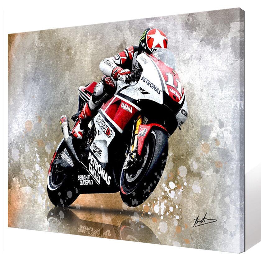 YAMAHA Motorsport Motorrad & Auto ABSTRAKT BILD LEINWAND KUNST WANDBILD 1277A
