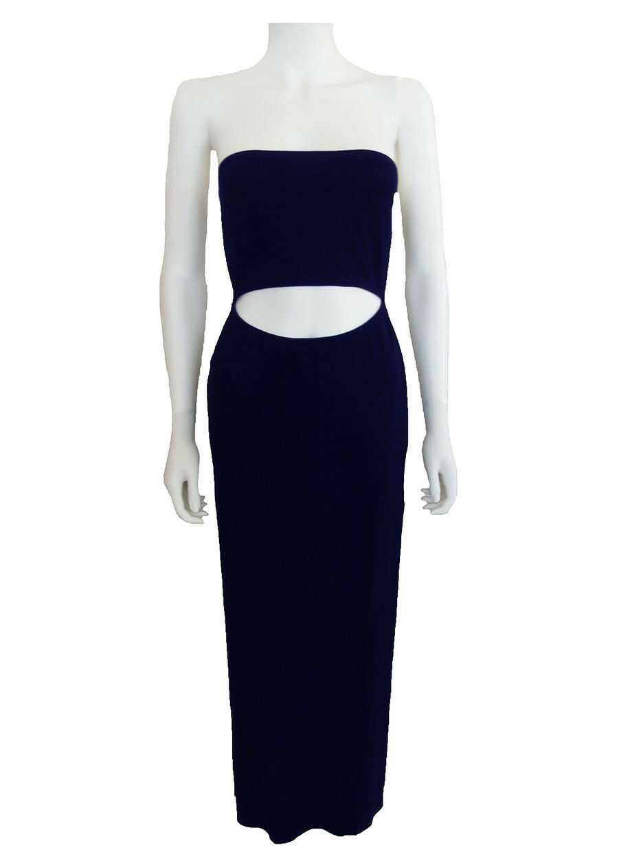women Karan Navy Gown Dress US 4 NEW