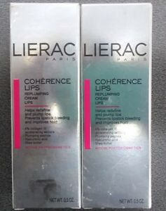 PACK-of-2-LIERAC-Paris-Coherence-Lips-Replumping-Cream-0-5-oz-Ea