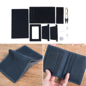 Details About Diy Women Mens Leather Wallet Kit Personalised Real Leather Wallet Making