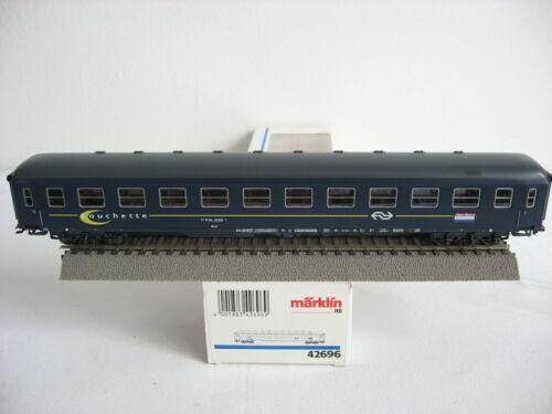 """Märklin H0 42696 Liegewagen der NS /""""Couchette/"""" OVP NEUwertig Sose 1997 #12,19-5"""