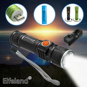 90000LM-T6-LED-Zoomable-Flashlight-USB-Rechargeable-18650-Torch-Lamp-Light