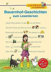 LESEMAUS-zum-Lesenlernen-Sammelbaende-Bauernhof-Geschich-Buch-Zustand-gut