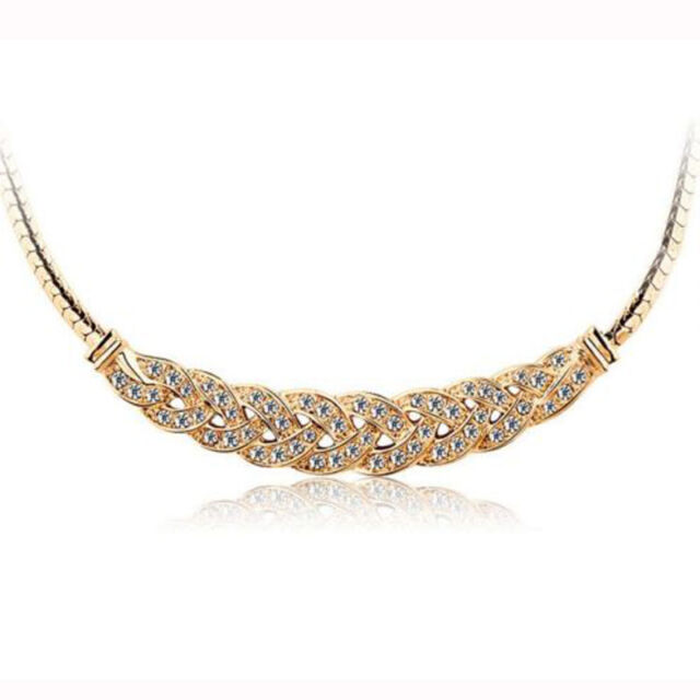 Charm Jewelry Pendant Chain Crystal Choker Chunky Statement Bib Necklace Nice