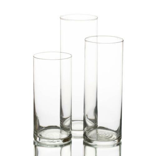 36 Set Glasses Cylinder Vases Fillers,Floating Candle,Tea Lights Table Decor Set