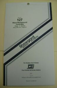 Showgard Size 127 Black Hingeless Stamp Mount New Unopened Pack 1st Quality 264