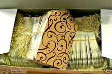 Lot 100 Large Scalloped Cocoa Print Paper Merchandise Price Tags With String